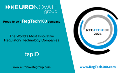 EURONOVATE GROUP, parent company of TAP ID, part of RegTech100 List of most innovative companies for 2021